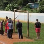 Angriff auf ein Tor in Viñales, Cuba